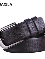 Men Vintage/Party/Work/Casual Calfskin Waist Belt buckle leather cowhide business casual fashion retro wild