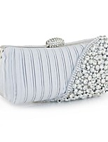 Handbag Silk Evening Handbags/Clutches/Mini-Bags/Wallets & Accessories With Imitation Pearl/Metal