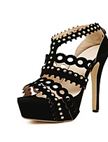 Women's Shoes Stiletto Heel Heels Sandals Party & Evening Black