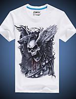 Herren Freizeit/Übergröße T-Shirt  -  Druck Kurz Baumwolle