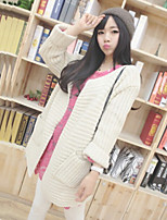 Women's Candy Color Round Hem Cuff Casual Loose Sweaters