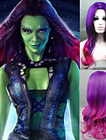Cosplay Wig New Guardians of the Galaxy Gamora Wig Synthetic Long Wavy Gradient Costume wigs