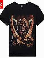 Men's Summer fashion Casual Print Short Sleeve 3D Regular T-Shirt (Cotton/Lycra)