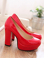 Women's Shoes Faux Leather Kitten Heel Heels Pumps/Heels Party & Evening/Athletic Black/Red/White