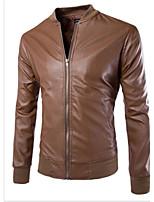 Men's Casual Long Sleeve Regular Jacket (Sheepskin)