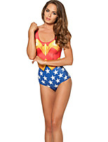 Wonder Woman Pattern Swimwear Cosplay Costumes