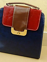 Women 's Other Leather Type Tote - Beige/Blue