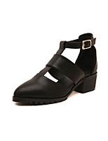 Women's Shoes   Cone Heel Heels/Pointed Toe Pumps/Heels Casual Black/White