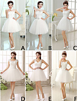 A-line/Princess High Neck Short Mini Bridesmaid Dress