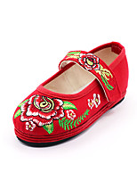 Girls' Shoes Outdoor/Party & Evening/Dress/Casual Mary Jane/Comfort/Round Toe Fabric Flats Red