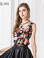 Women's Chiffon Flowers Sleeveless Vest Tops T100