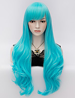 70cm de long ondulées Anime Cosplay femmes du parti dame harajuku sexy perruques perruque longue parti bleu