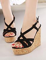 Women's Shoes Fleece Wedge Heel Open Toe Sandals Dress More Colors available