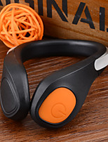 al aire libre zapatos de la luz de la banda de luz LED negro + naranja cr2032 (2 x)