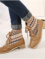 Women's Shoes  Chunky Heel Bootie/Round Toe Boots Outdoor/Dress/Casual Brown/Khaki