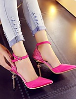 Women's Shoes  Stiletto Heel Heels/Pointed Toe Pumps/Heels Office & Career/Party & Evening/Dress Black/Red