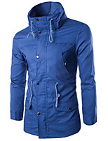 Men's Casual Long Sleeve Regular Jacket (Cotton Blend)