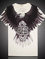Men's High Quality Personality  Summer Breathable 3D Style T-shirt—— Rock Eagle