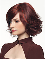 Short Wavy Burgundy Natural Synthetic Wig