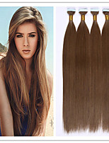 3pcs / lot 2.5g / s 100g / pc brasilianische Band Haarverlängerung reines Menschenhaar 18