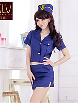 SKLV Women's Cotton Blends Military&Police Uniforms Ultra Sexy/Suits Nightwear/Lingerie