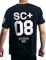 Guilan Men's Short Sleeve Print Pattern SC+ 08 T-shirt