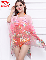 Women's Floral Halter Cover-Ups (Polyester)SM7A04