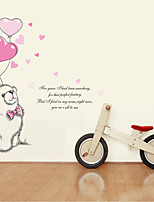 Wall Stickers Wall Decals Style Love Bear PVC Wall Stickers