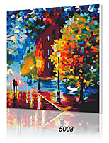 DIY Digital Oil Painting With Solid Wooden Frame Family Fun Painting All By Myself     Beautiful Life 5008