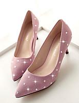 Women's Shoes Glitter Stiletto Heel Heels/Pointed Toe/Closed Toe Pumps/Heels Casual Black/Pink/Gray
