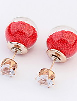 Women's Fine Fashion Transparent Hollow Stud Earrings With Rhinestone