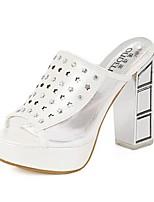 Women's Shoes Chunky Heel Peep Toe/Platform Sandals Casual Pink/White