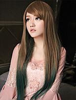le Japon et la Corée du Sud les modèles d'explosion de haute qualité à haute température couleur de fil longue perruque de cheveux fille