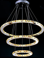 LED Contemporary Pendant Lights Ceiling Chandeliers Lighting Lamp with K9 Amber Crystal D100CM+D80CM+D60CM CE FCC UL