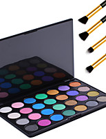 28 couleurs rétro palette ombres à paupières cosmétiques palette de maquillage ombre à paupières trousses d'outils + 4pcs crayon pinceau