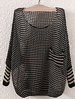 Fashion Women's Casual/Work Stretchy Thin ¾ Sleeve Pullover (Silk/Knitwear/Acrylic)