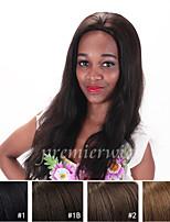 7a não transformados virgem brasileira reta peruca dianteira do laço natural para as mulheres negras