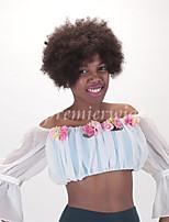 100% non transformés pic boucle la machine brésilienne vierge fait perruques perruques courtes sans colle pour les femmes noires