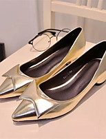 Women's Shoes Chunky Heel Pointed Toe Pumps/Heels Dress Silver/Gold