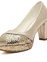 Women's Shoes Low Heel Open Toe Sandals Casual Silver/Gold