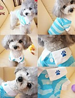 FUN OF PETS® Leisure Stripe Pure Cotton T-shirt for Pet Dogs (Assorted Colors,Sizes)
