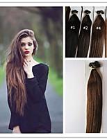3Pcs/Lot 1G/S 100G/PC  Nano Hair Extension Virgin Pre-bonded Hair Keratin Fusion Capsule Hair No Tangle In Stock