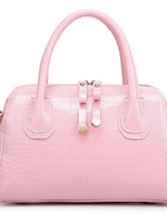 Women 's Shell Tote - White/Pink/Black