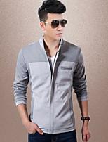 Men's Casual/Work/Sport Long Sleeve Regular Jacket (Cotton Blend/Knitwear) fashionable knit jacket leisure wild