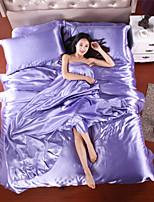 Home Textile Hot Silk Sheets Silk Bed Linen Chinese Silk Duvet Cover Morden Moder Silk Quilt King Size 4pcs of Beddings