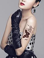 5Pcs Waterproof Brown The Butterfly Pattern Temporary Body Art Tattoo Sticker