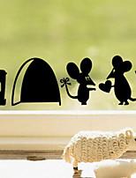 stickers muraux stickers muraux, souris romantiques sticker couple mur de pvc jerry