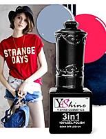 Y-SHINE 3 Pcs Nail Gel Polish Soak Off Uv Gel Nail Polish Y07-20-65(Cherry&Charcoal Grey&Dark Blue)