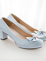 Women's Shoes Chunky Heel Heels Pumps/Heels Office & Career/Casual Blue/Pink/White