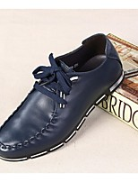 Men's Shoes Casual Leather Oxfords Blue/Brown